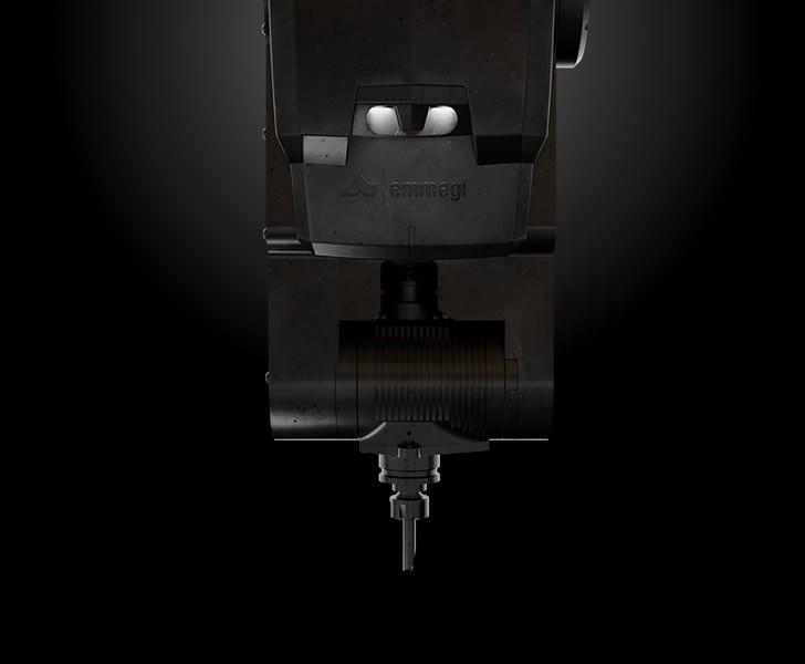 Bearbetningsmaskiner Comet X4 Styrka och flexibilitet för motorspindeln Emmegi 1